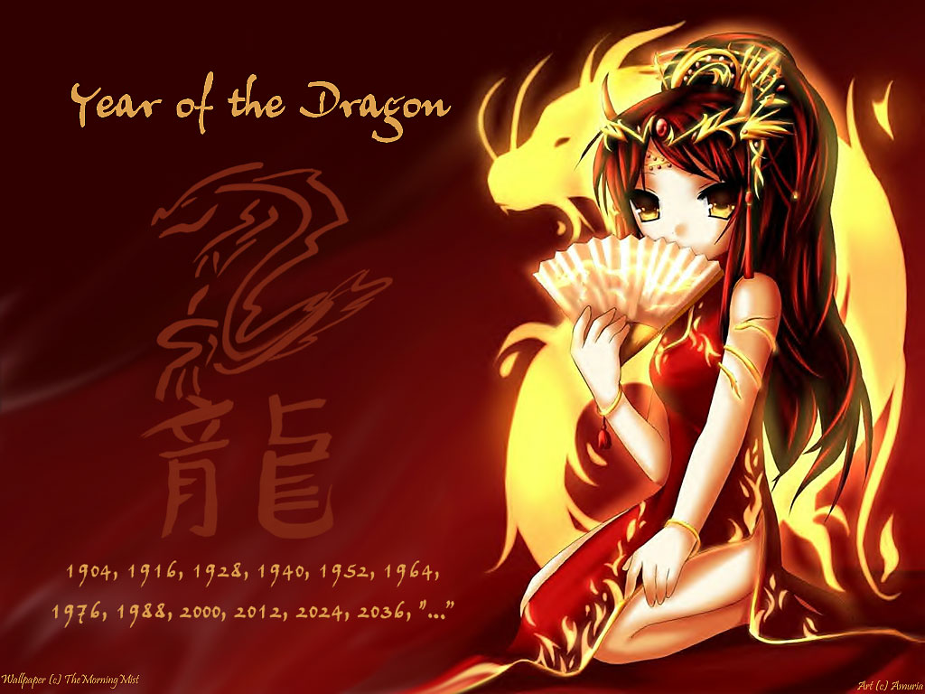 Chinese New Year dragon anime wallpaper