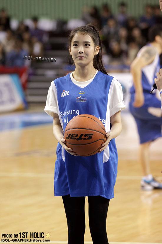 Korean singer IU basketball game