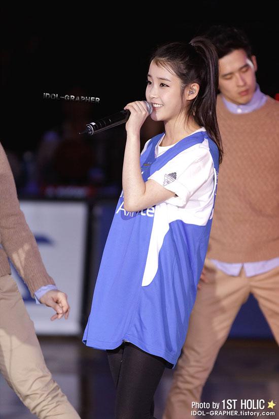 Korean singer IU basketball game