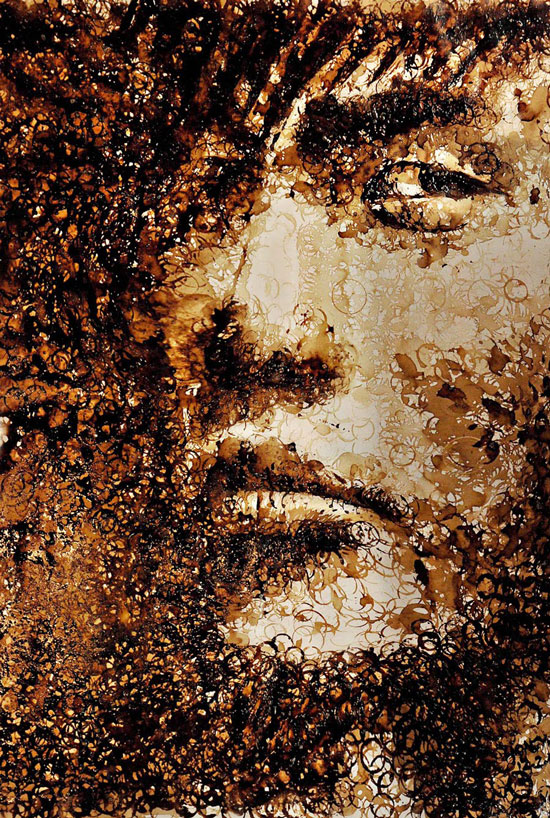 Jay Chou coffee stained cup portrait