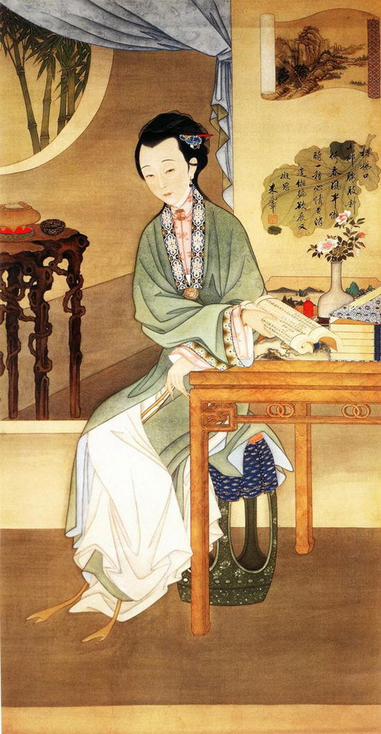Ancient Chinese beauty painting