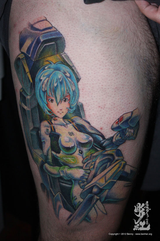 Japanese anime tattoo