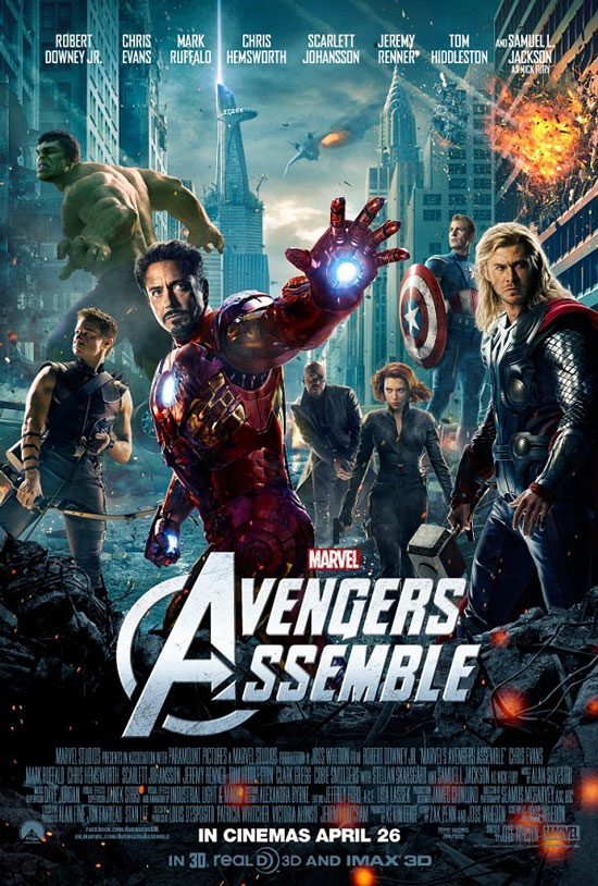 Marvel Avengers Assemble UK movie poster
