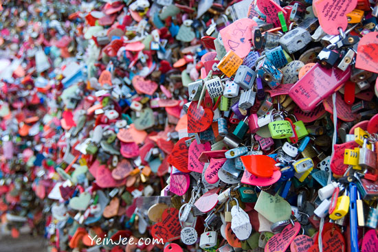 Namsan padlocks of love