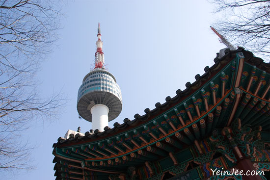 N Seoul Tower and Namsan Pavilion