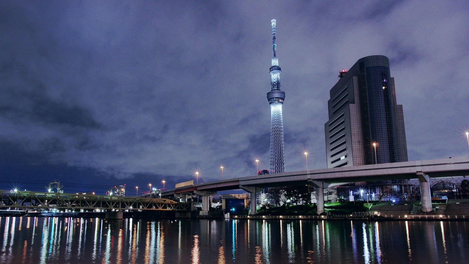 Tokyo Sky Tree skyline at night