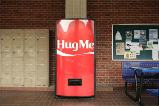 Coca Cola hug machine at NUS, Singapore