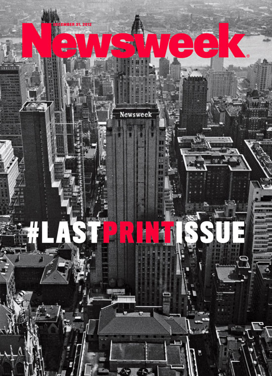 Newsweek last print issue cover