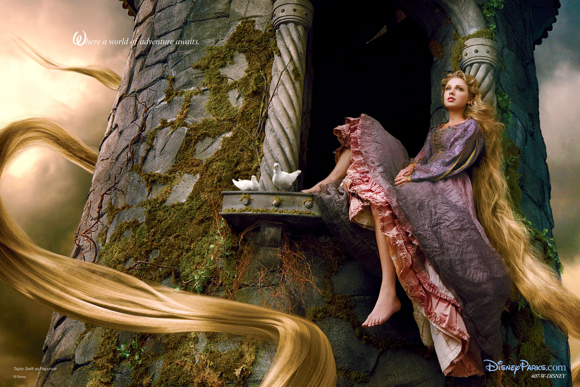 Taylor Swift Disney Rapunzel wallpaper