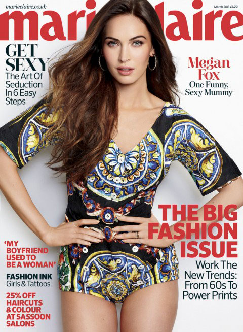 Megan Fox Marie Claire UK Magazine