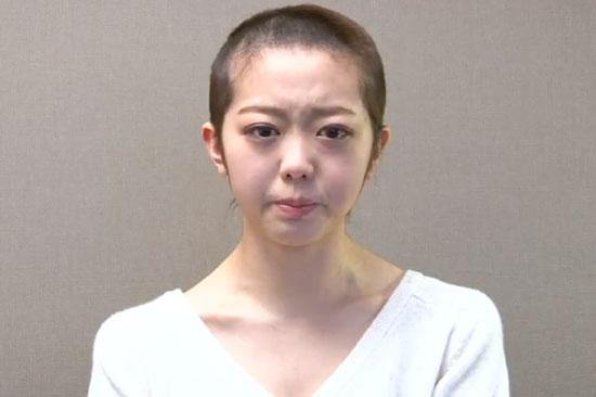 AKB48 Minami Minegishi head shaved