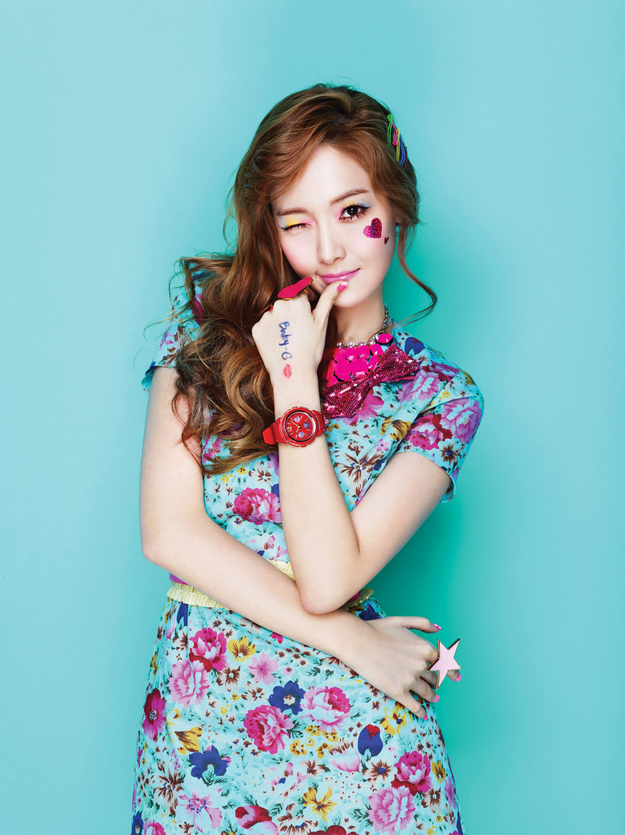 SNSD Jessica Casio Baby-G Kiss Me 2013