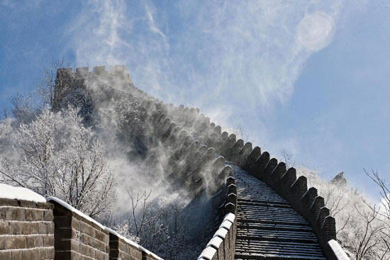 Great Wall of China snow