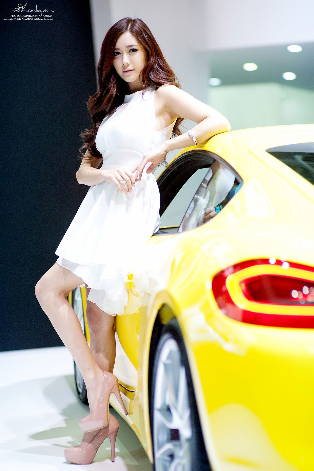 Korean model Kim Ha Yul Seoul Motor Show 2013