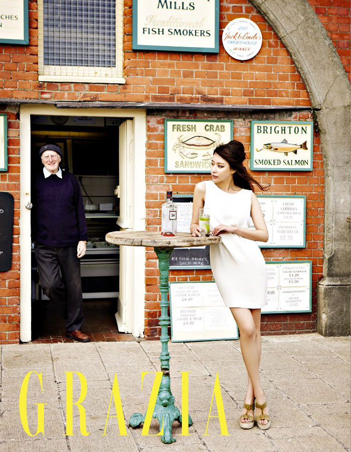 Kim Ah-joong Korean Grazia Magazine at Brighton Pier