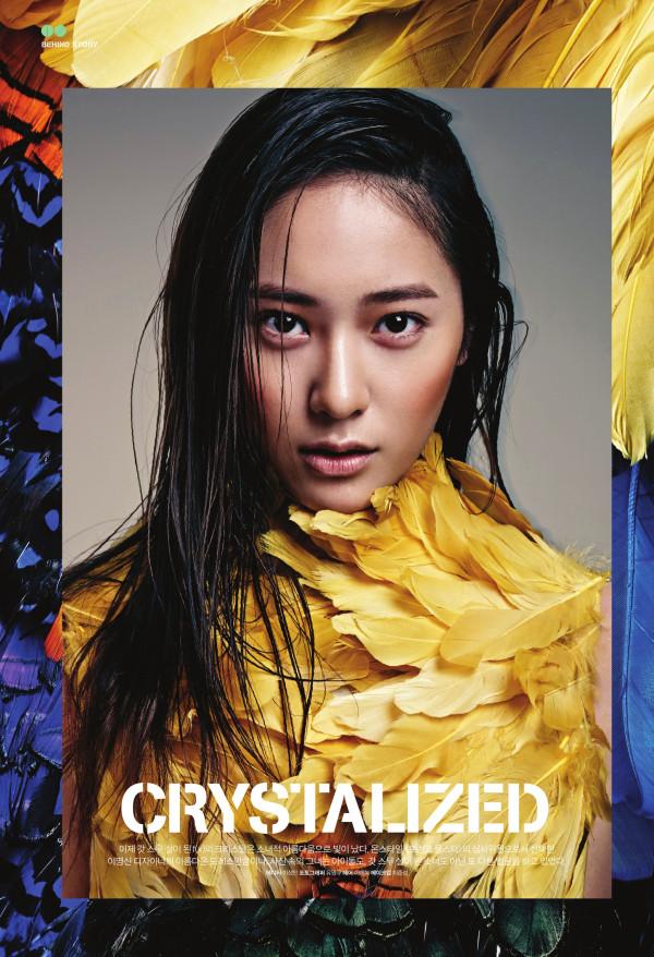fx Krystal feather fashion