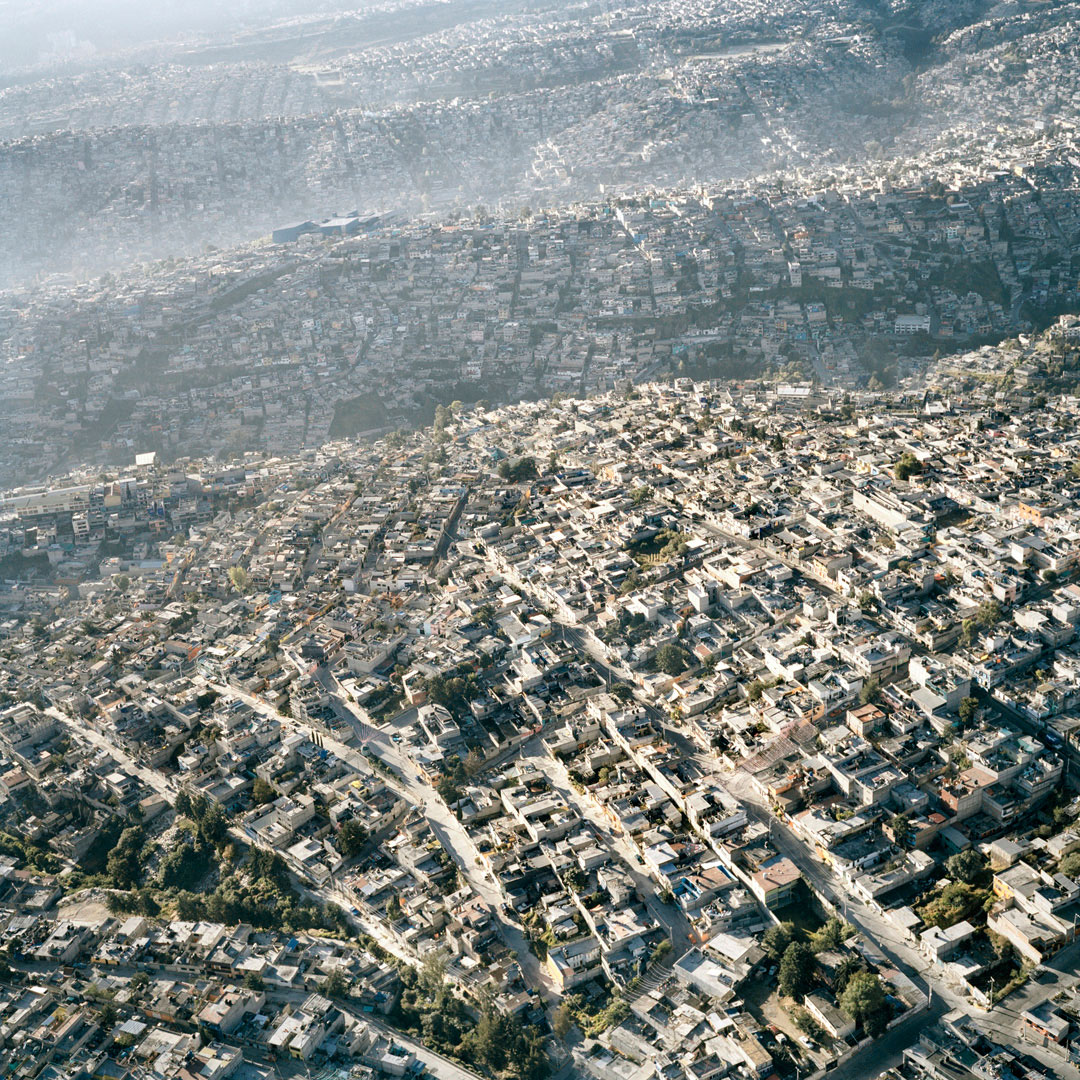 Aerial view of crowded Mexico City
