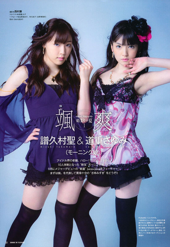 Morning Musume Japanese Gravure Television Magazine