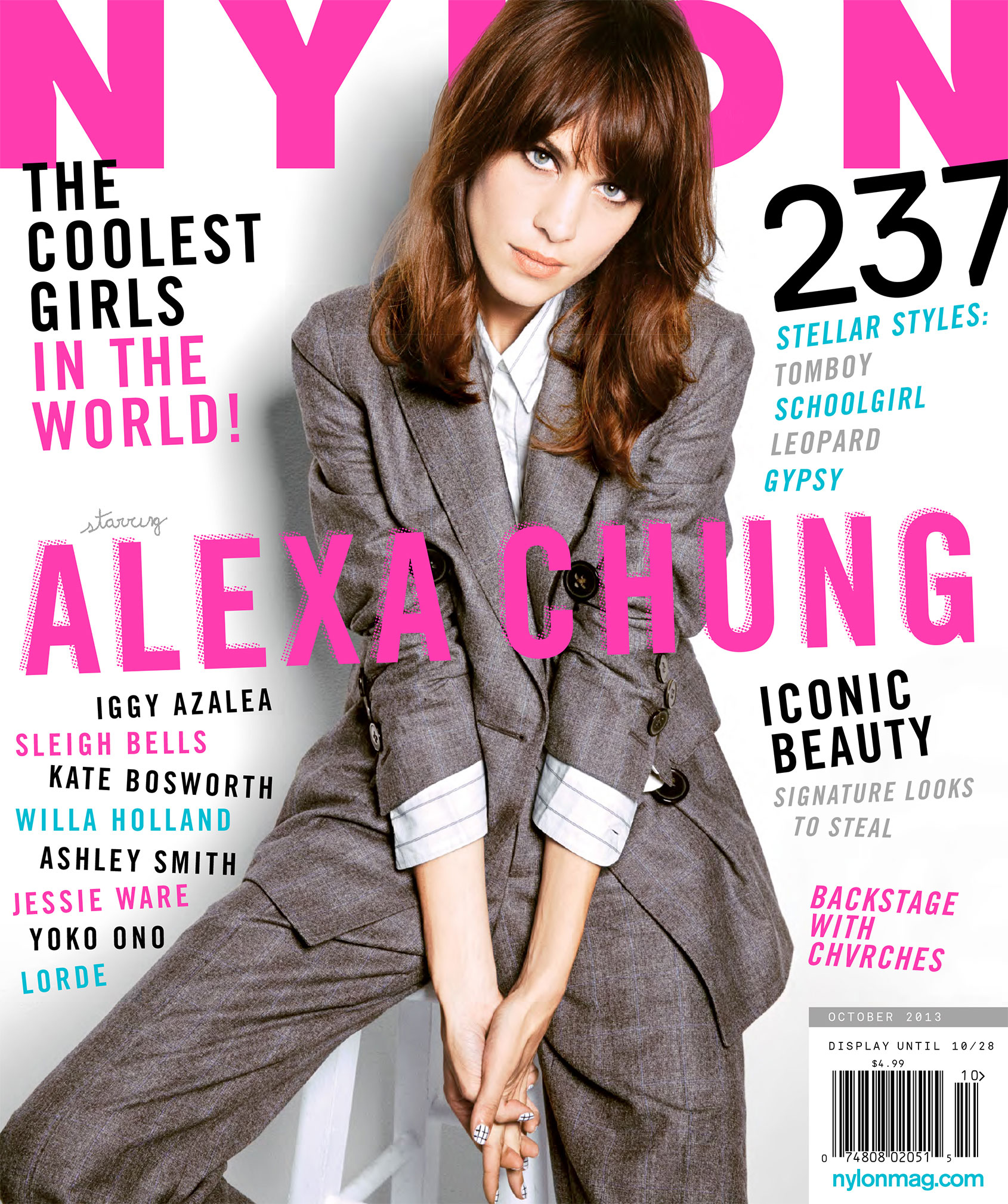 British model Alexa Chung Nylon Magazine