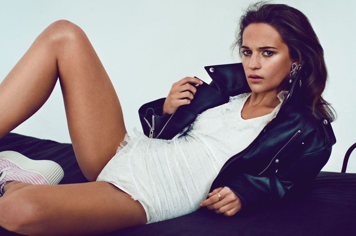 Swedish actress Alicia Vikander V Magazine