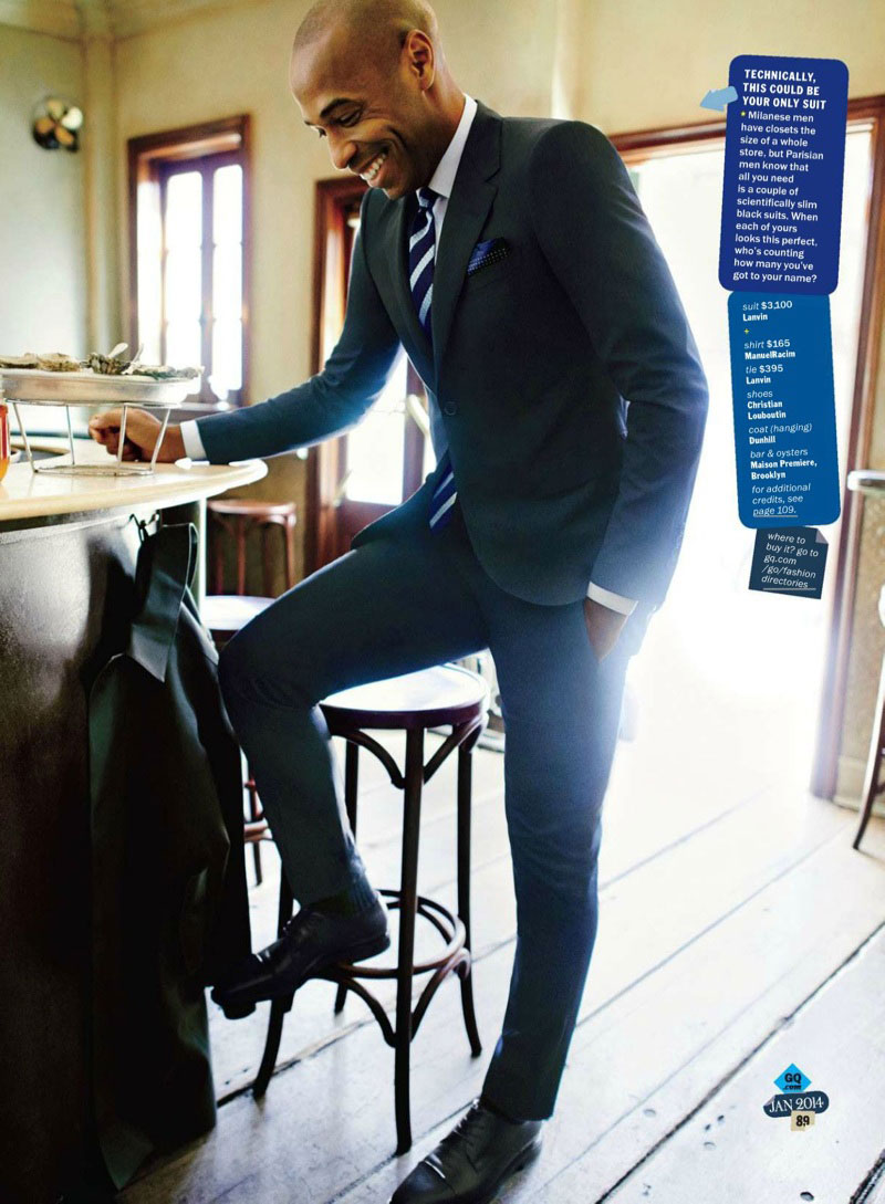 French footballer Thierry Henry American GQ Magazine