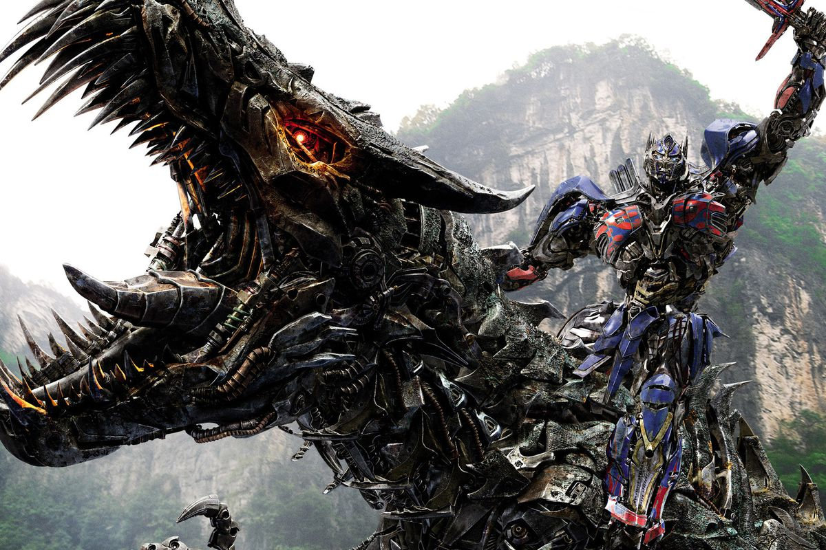 Transformers Age of Extinction Optimus Prime and Dinobots