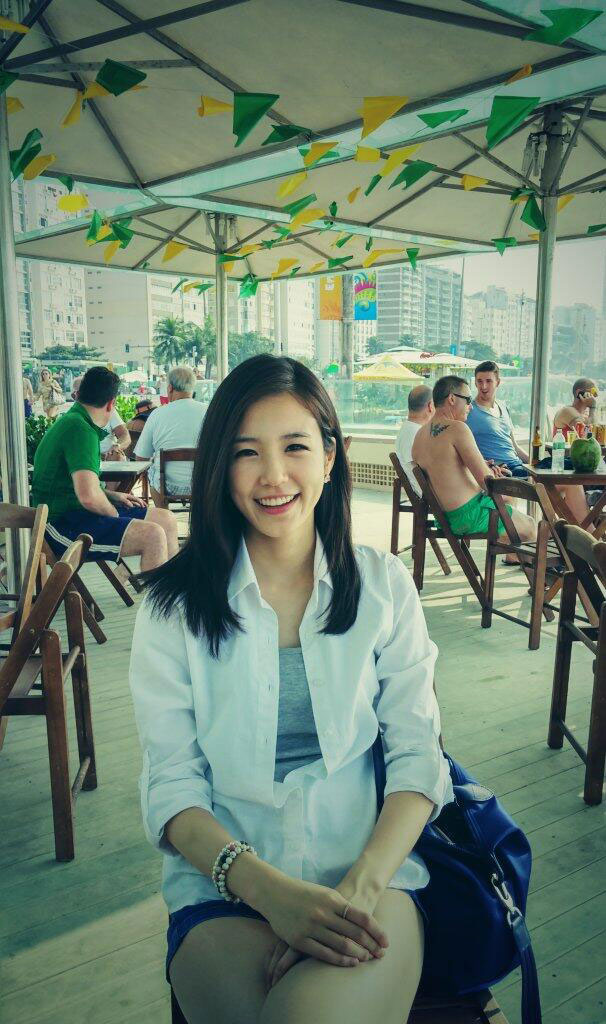 Korean announcer Jang Yewon in Brazil