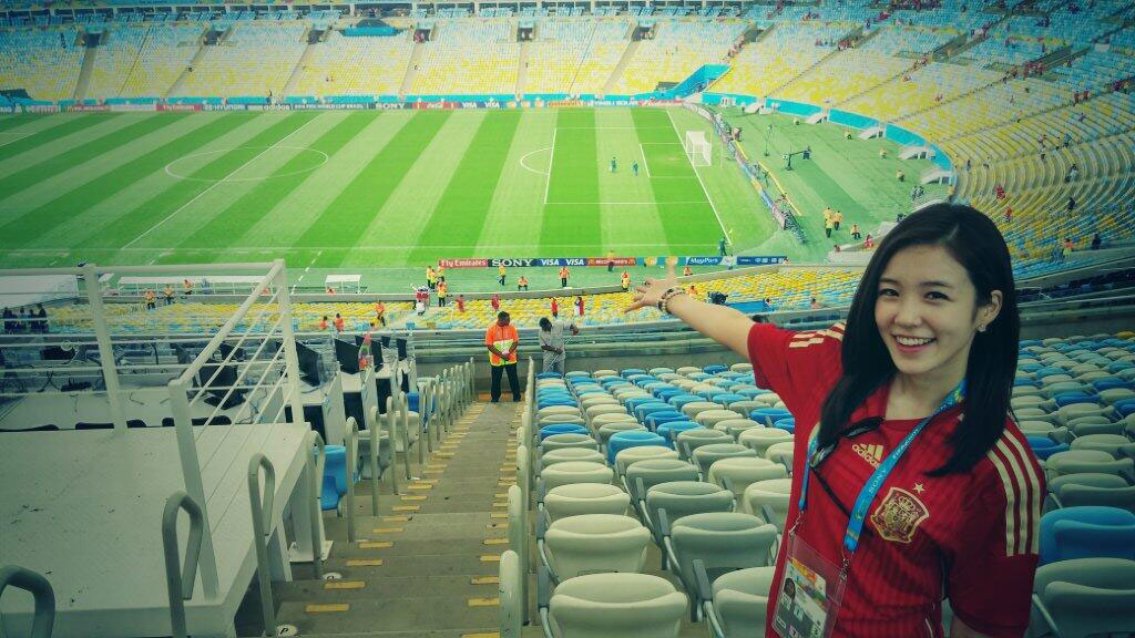 Korean announcer Jang Yewon World Cup stadium