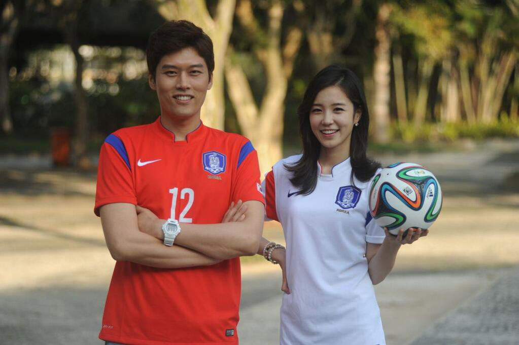 Korean announcer Jang Yewon SBS World Cup