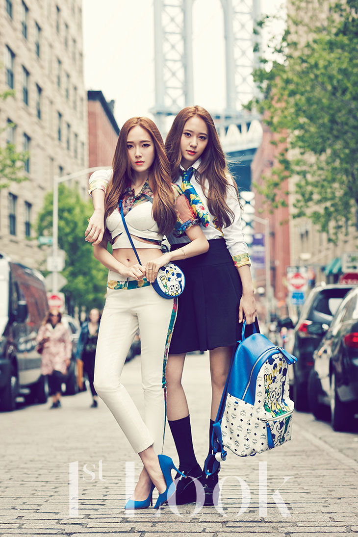 Jessica and Krystal Korean 1st Look Magazine