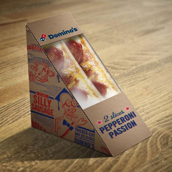 Dominos UK sandwich pizza