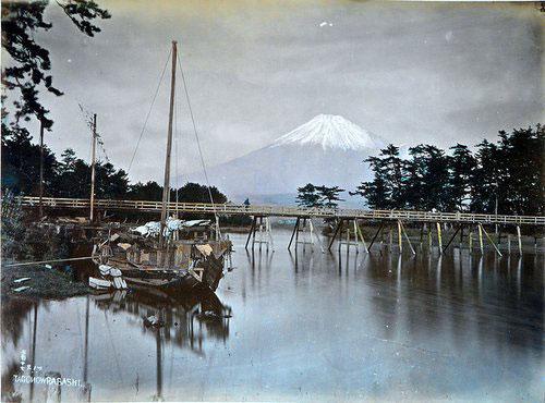 Adolfo Farsari vintage Japanese Mt Fuji
