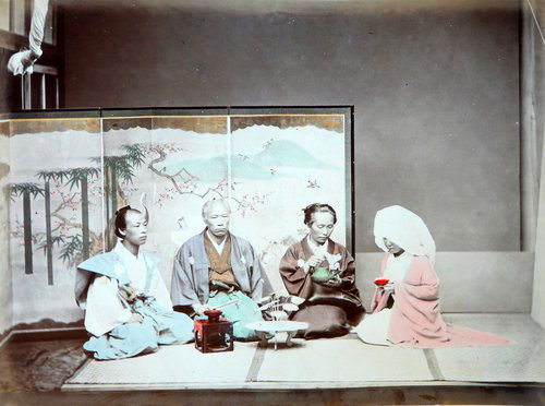 Adolfo Farsari vintage Japanese wedding