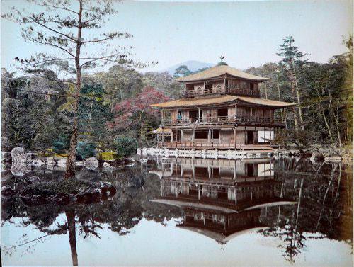 Adolfo Farsari vintage Japanese Kinkakuji