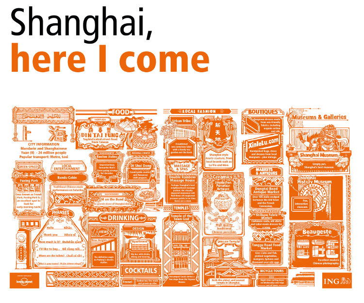 ING Group cities in a click Shanghai