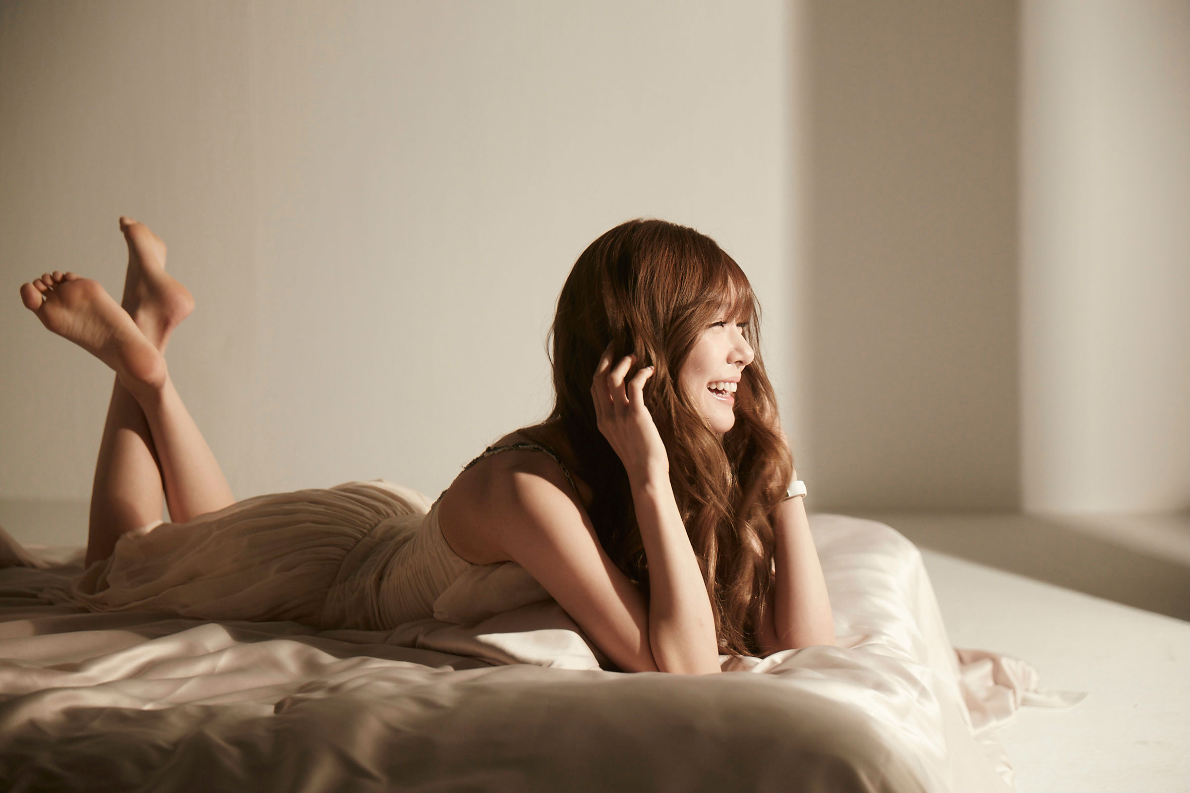 Girls Generation Tiffany shooting Casio commercial