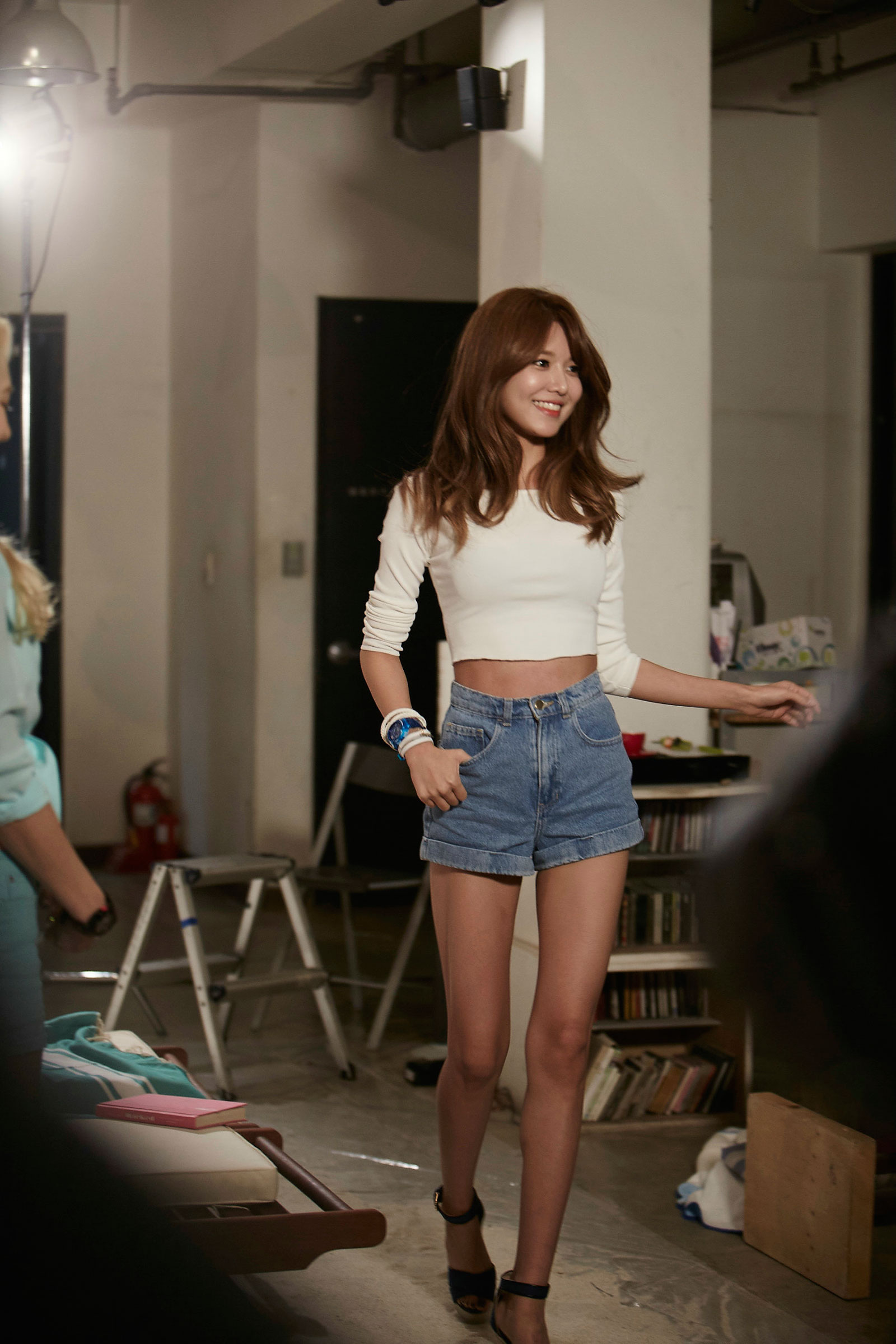 Girls Generation Sooyoung shooting Casio commercial