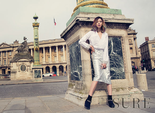 Irene Kim Korean Sure Magazine in Paris
