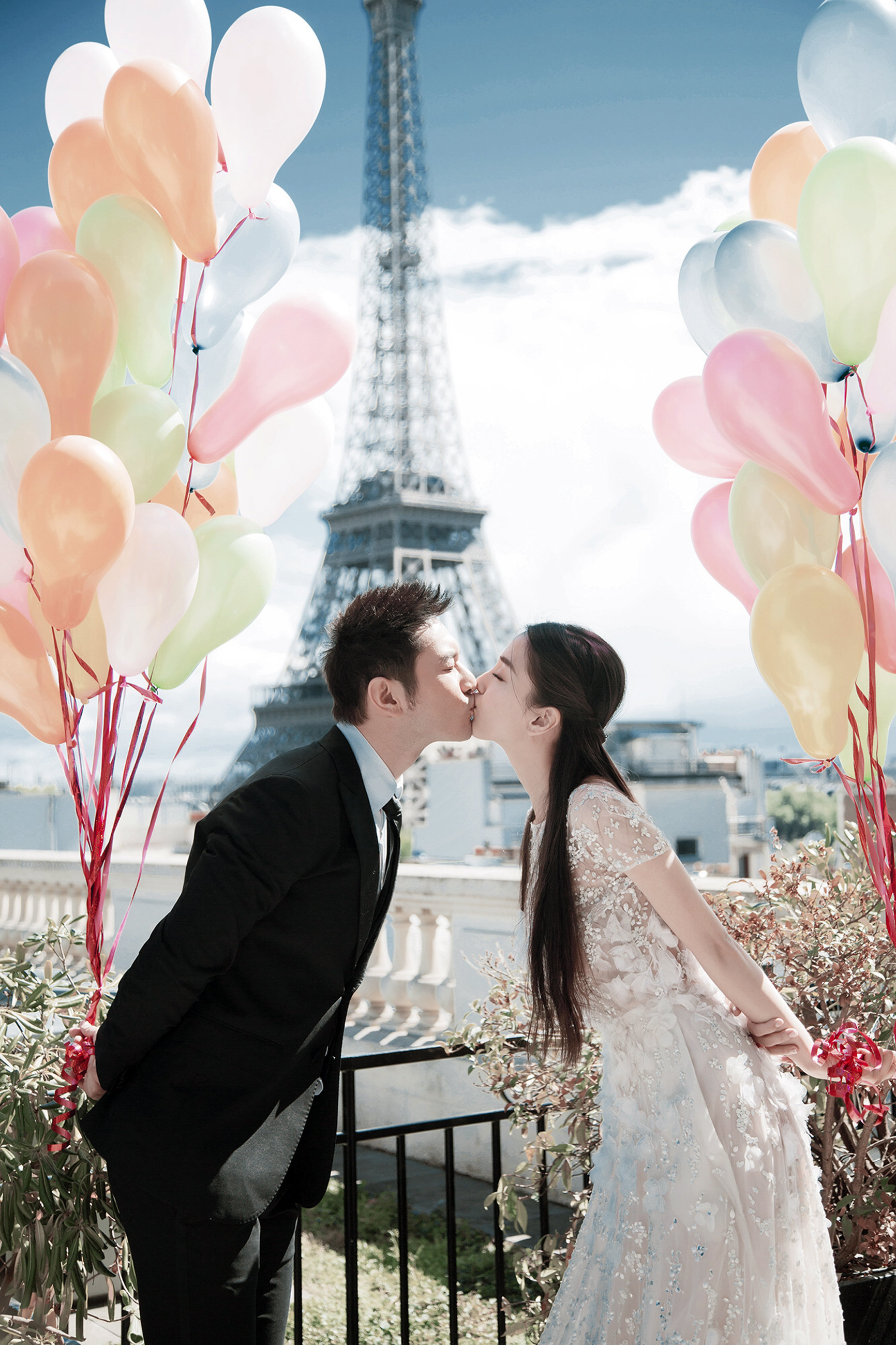 Chinese celebrity couple Huang Xiaoming and Angelababy wedding