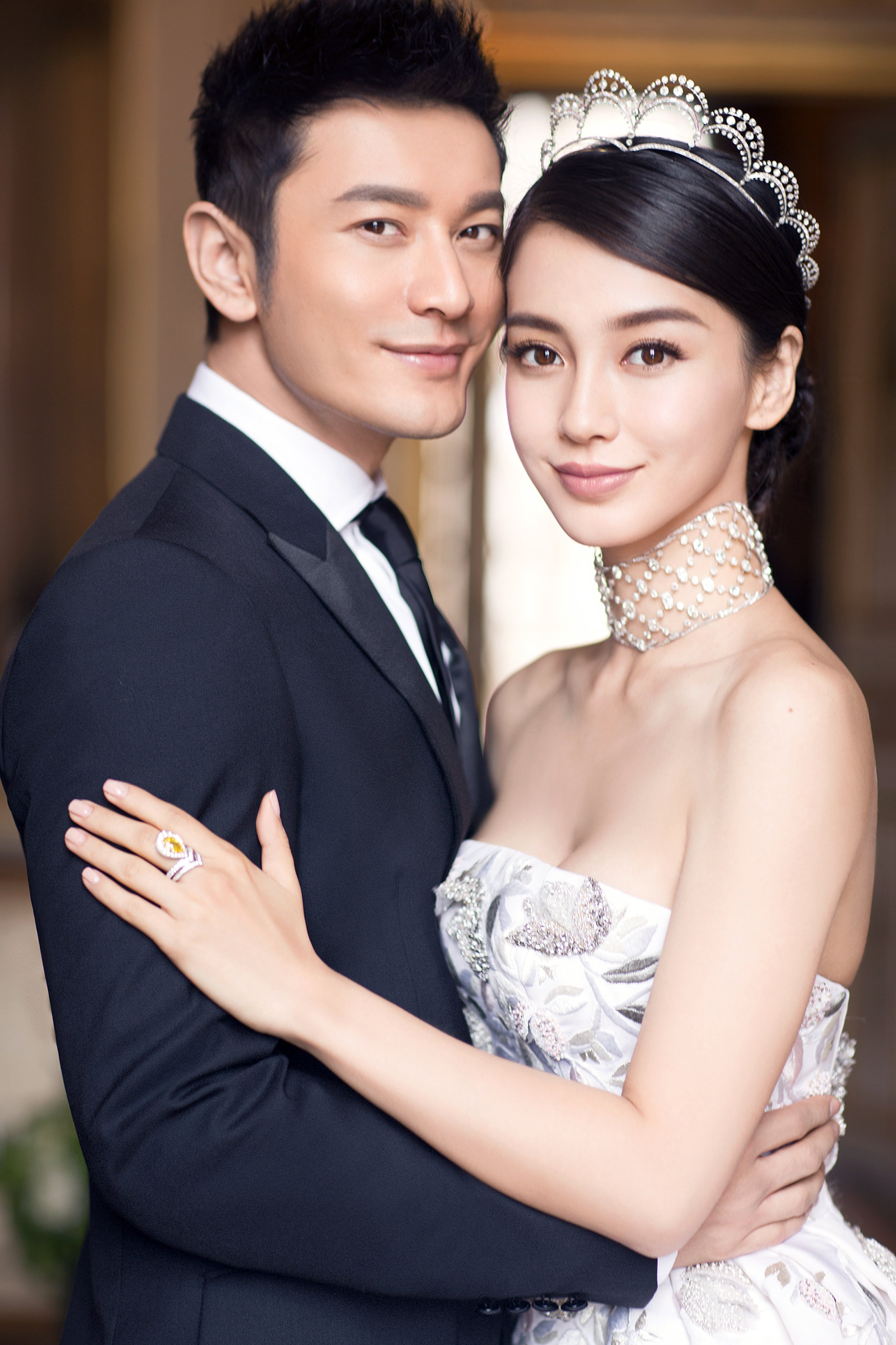 Huang Xiaoming and Angelababy wedding photo in Shanghai