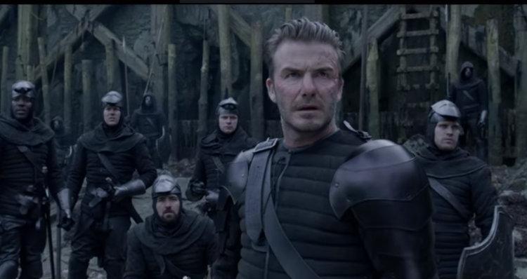 David Beckham in King Arthur Legend of the Sword movie